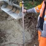 Mesure de la profondeur de la fosse