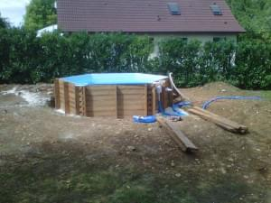 piscine en bois vers Dijon