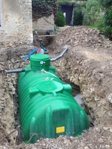 creuser une fosse pour une cuve