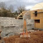 Bâtiment pour piscine intérieur - Local technique - Pignons maison
