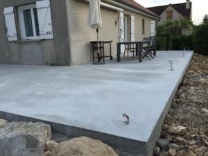dalle en béton pour une maison individuelle
