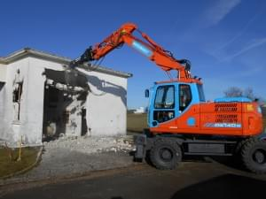 démolition d'un bâtiment